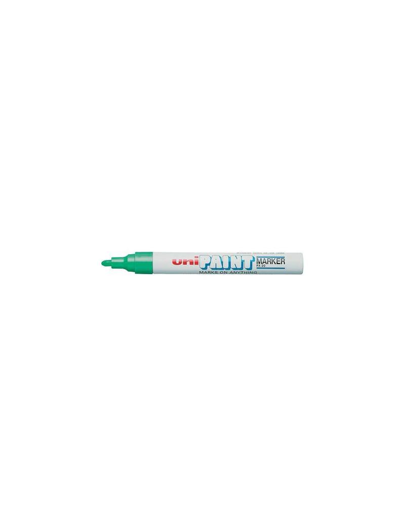 Marcatore Permanente a Vernice Paintmarker Uni-Ball - Punta Tonda - 2,2-2,8 mm - M-PX20-B (Blu)