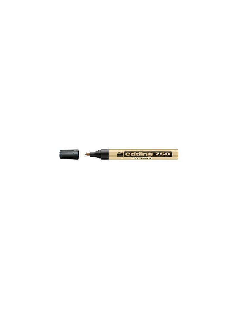Marcatore Permanente a Vernice 750 Edding - Punta Tonda - 2-4 mm - E-750 053 (Oro)