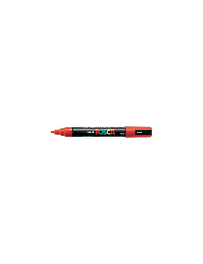 Marcatore a Tempera Uni Posca PC5M Uni-Ball - Punta Tonda - 1,8-2,5 mm - M-PC5M-AC (Arancio)