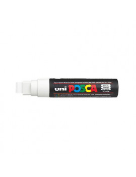 Marcatore a Tempera Uni Posca PC17K Uni-Ball - Punta Scalpello - 15 mm - M-PC17K-BI (Bianco)