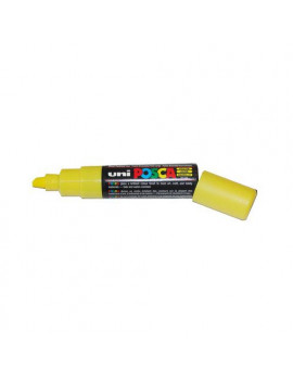 Marcatore a Tempera Uni Posca PC8K Uni-Ball - Punta Scalpello - 8 mm - M-PC8K-G (Giallo)