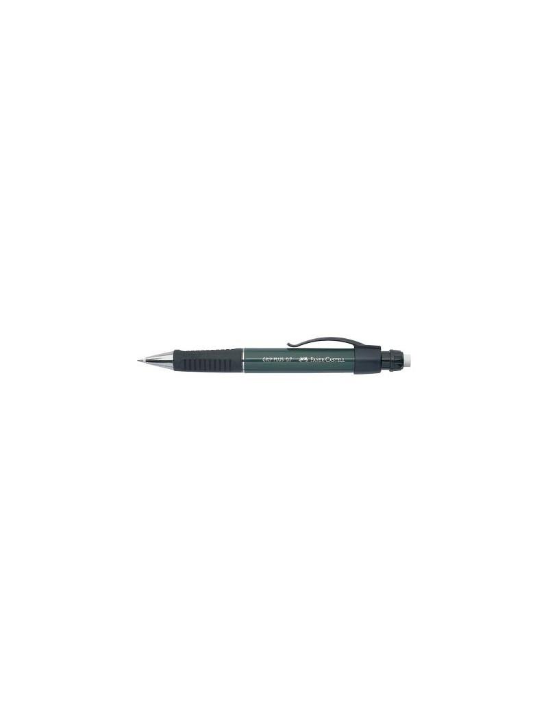 Portamine per Penna a Sfera Grip Plus Metallic Faber Castell - con Pulsante (Verde Scuro)
