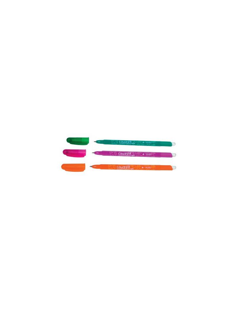 Penna a Sfera Cancellabile Tratto Cancellik - 1 mm (Verde Conf. 12)