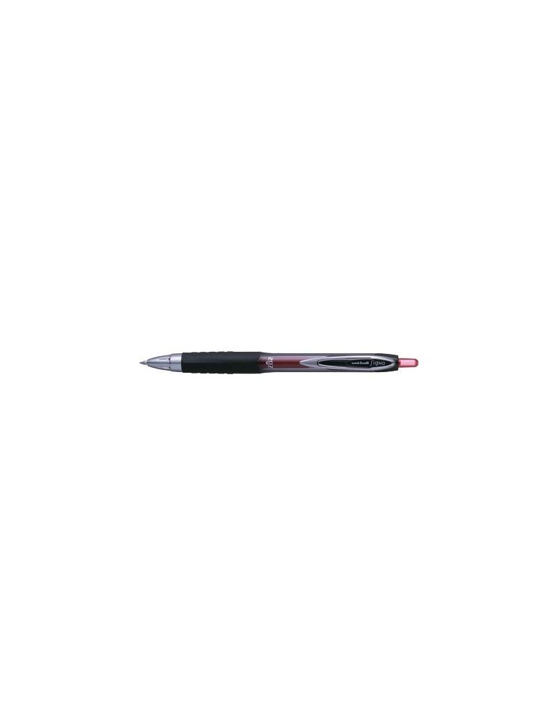 Penna Gel a Scatto Signo Uni-Ball - 0,7 mm - M-UM207-R (Rosso)