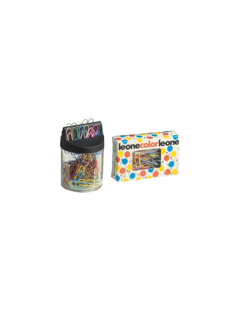 Fermagli Colorati Leone Color Leone Dell'Era - Scatola con Finestra - n. 4 - 32 mm - FX5 (Metallizzati Assortiti Conf. 500)