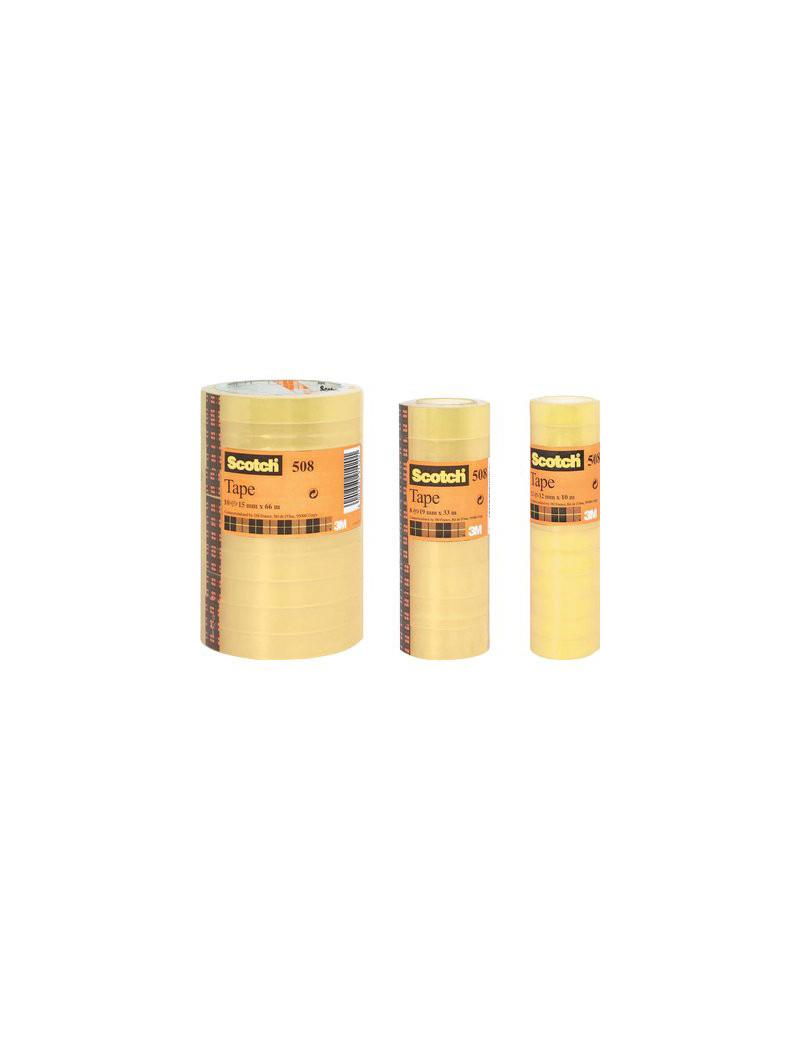 Nastro Adesivo in PPL Scotch 508 3M - 15 mm x 33 m - 65891 (Trasparente Conf. 10)